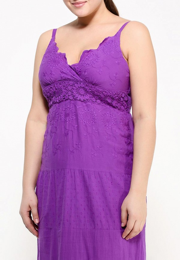 Фото 4 - женский сарафан Indiano Natural фиолетового цвета