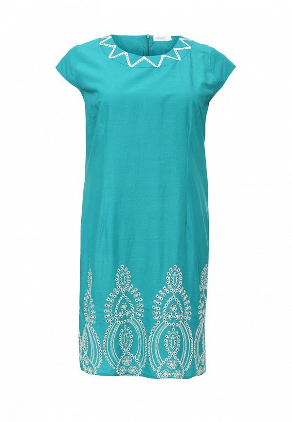 женское повседневные платье indiano natural, бирюзовое