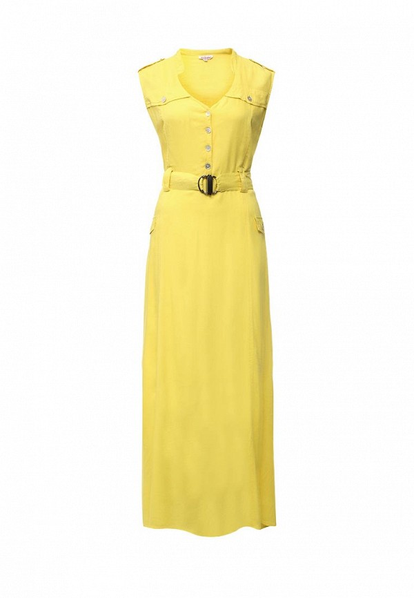 Купить Платье Indiano Natural, IN012EWIYV23, желтый, Весна-лето 2016