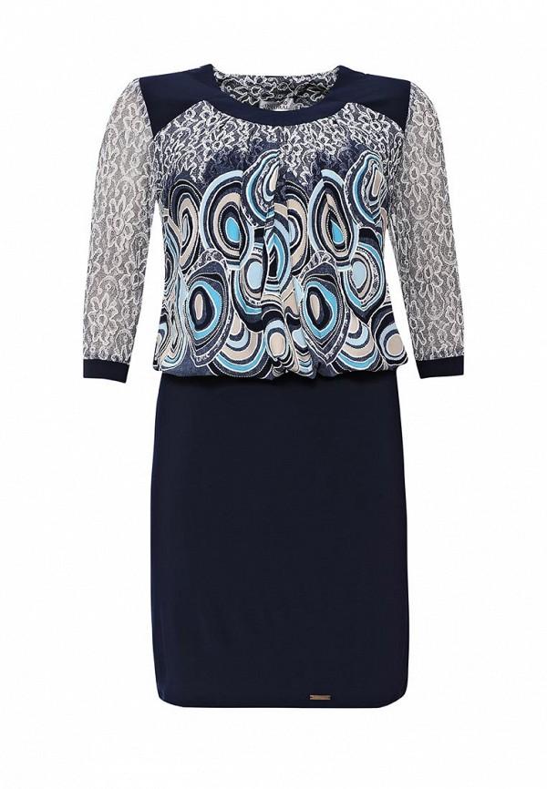 Купить Платье Indiano Natural, IN012EWKOW75, синий, Осень-зима 2016/2017