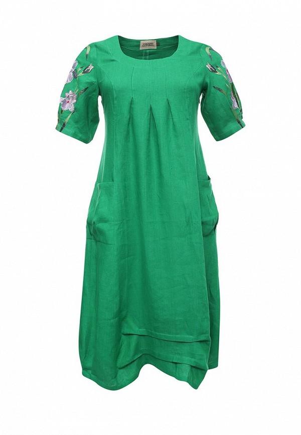 женское повседневные платье indiano natural, зеленое