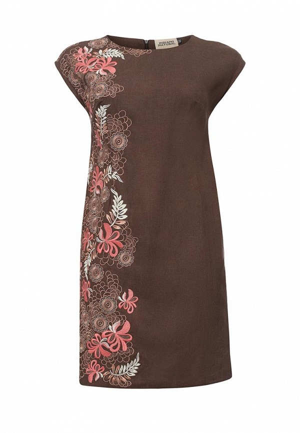женское повседневные платье indiano natural, коричневое