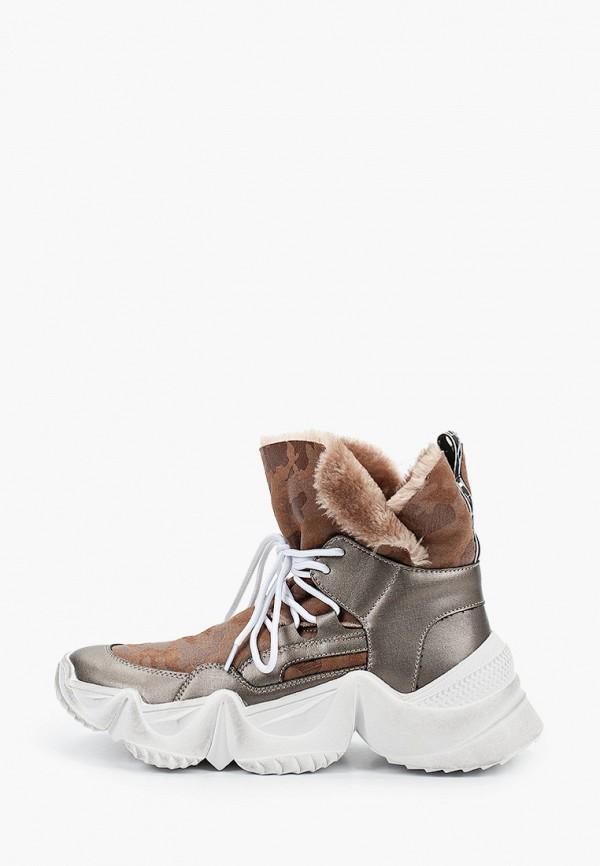 женские кроссовки inuovo, коричневые