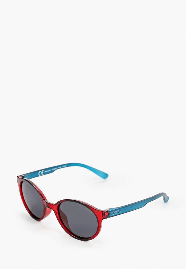 солнцезащитные очки invu для девочки, бордовые