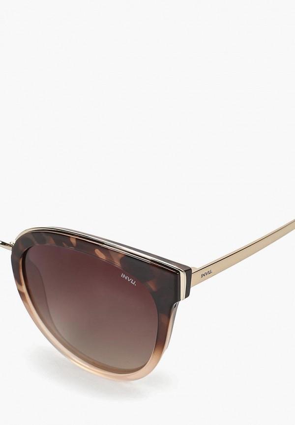 Фото 2 - Очки солнцезащитные Invu коричневого цвета