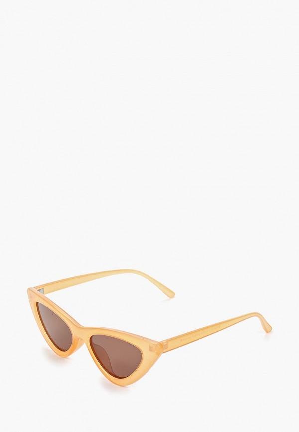 женские солнцезащитные очки кошачьи глаза invu, оранжевые