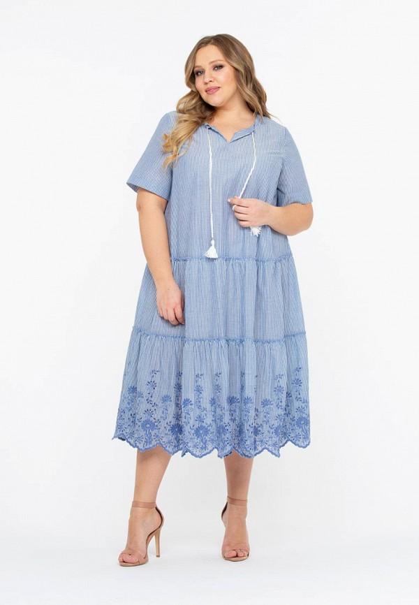 женское повседневные платье intikoma, голубое