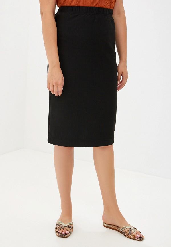 женская прямые юбка intikoma, черная