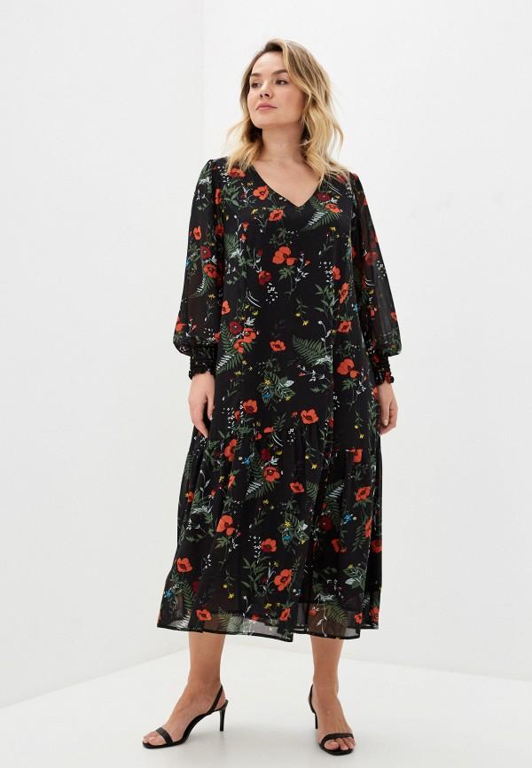 женское повседневные платье intikoma, черное