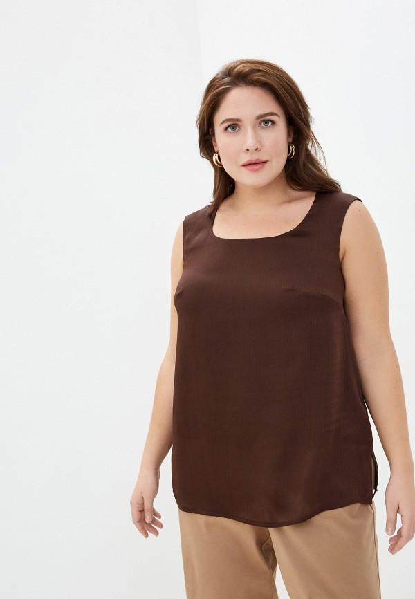 женский топ intikoma, коричневый