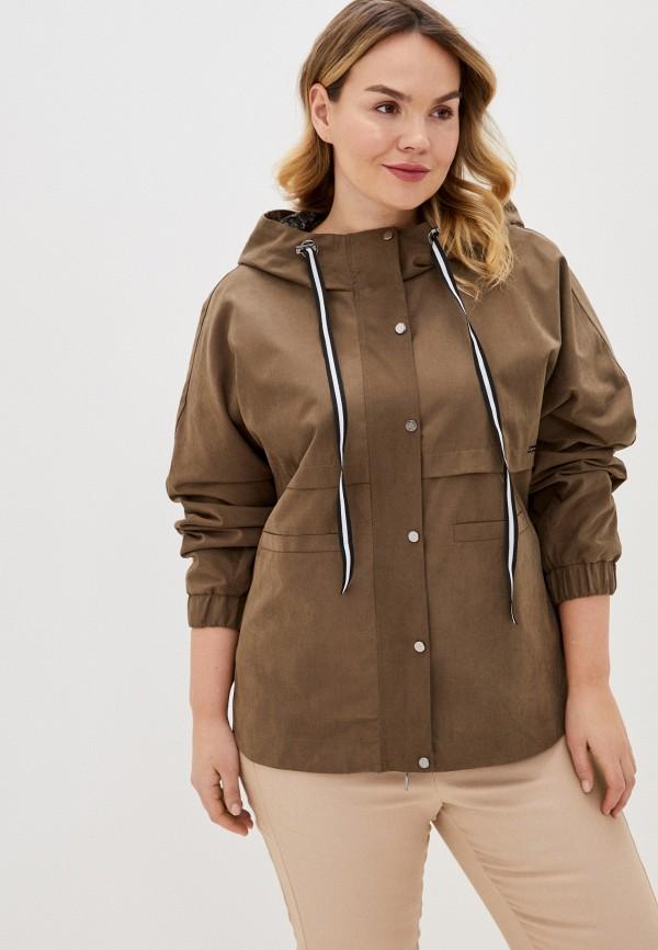 женская куртка intikoma, коричневая