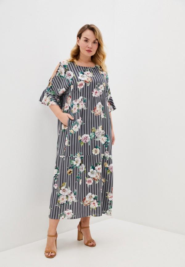 женское повседневные платье intikoma, серое