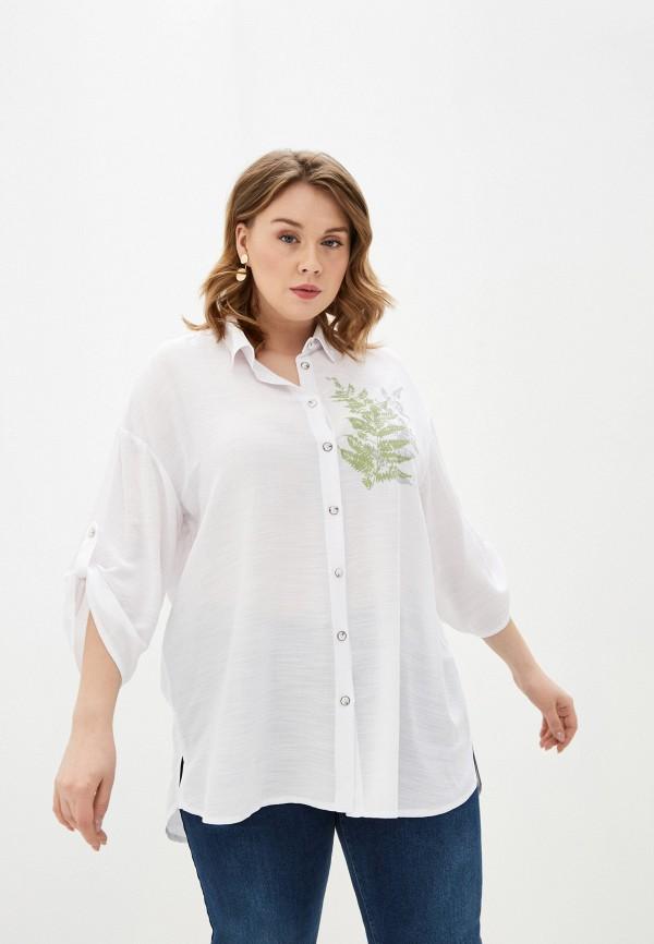 женская рубашка с длинным рукавом intikoma, белая