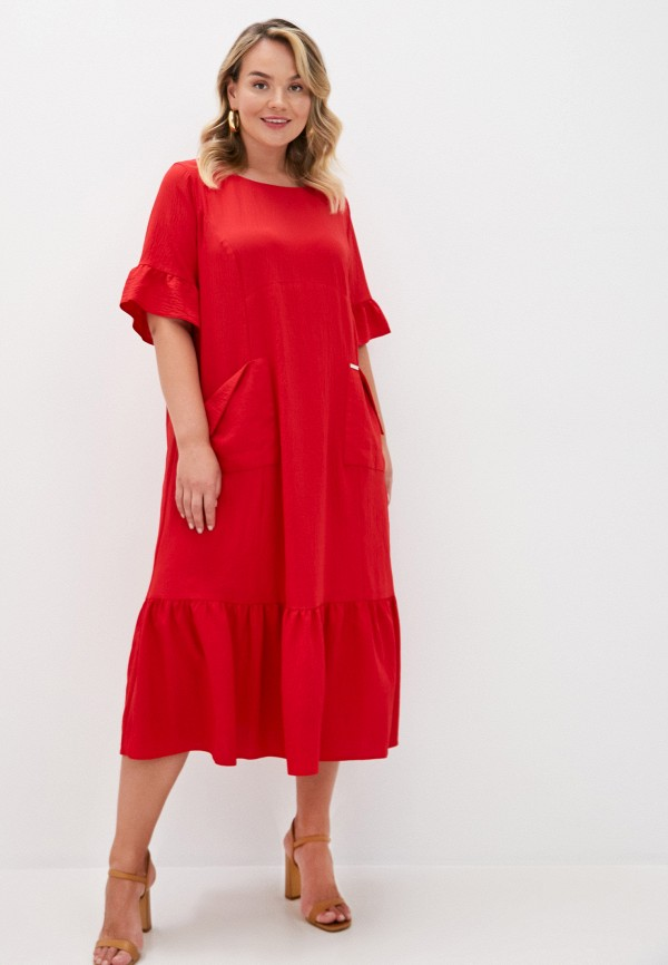 женское повседневные платье intikoma, красное