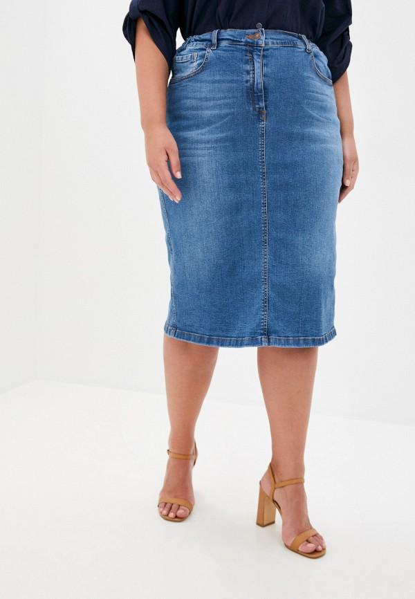 женская джинсовые юбка intikoma, синяя