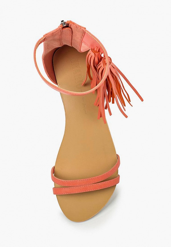 Фото 4 - женские сандали Inario кораллового цвета