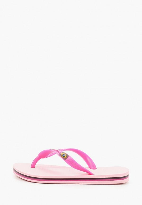 сланцы ipanema для девочки, розовые