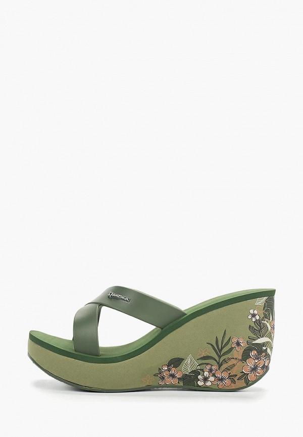 женское сабо ipanema, зеленое