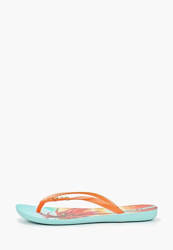 женские сланцы ipanema, оранжевые