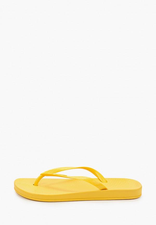 женские сланцы ipanema, желтые
