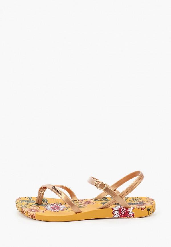 женские сандалии ipanema, золотые