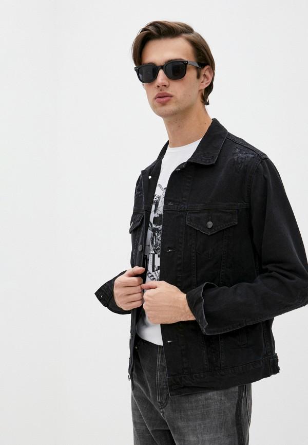 мужская джинсовые куртка iro, черная