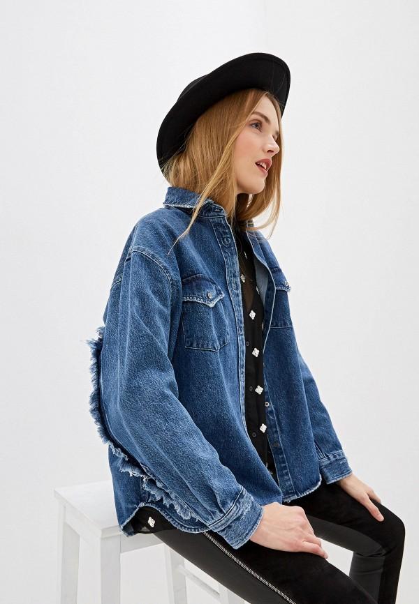 женская джинсовые рубашка iro, синяя