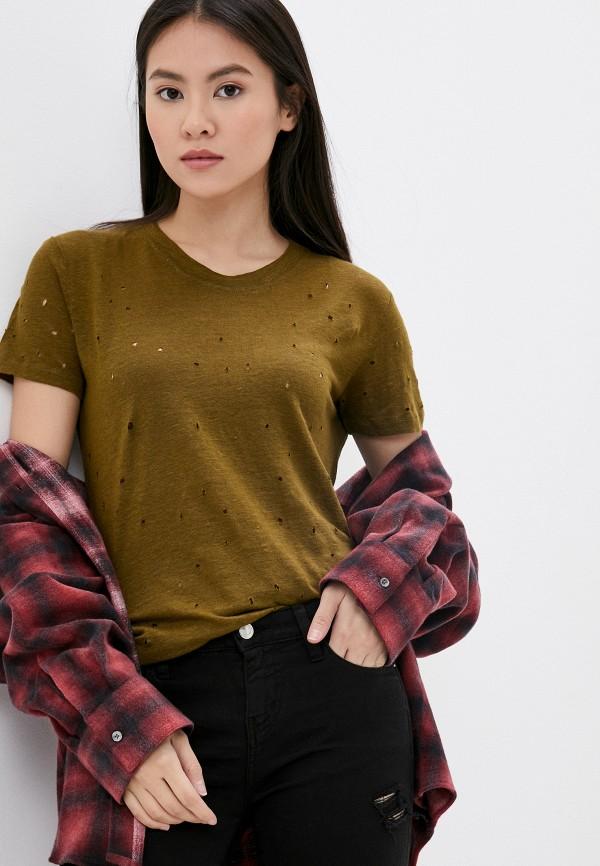 женская футболка iro, хаки