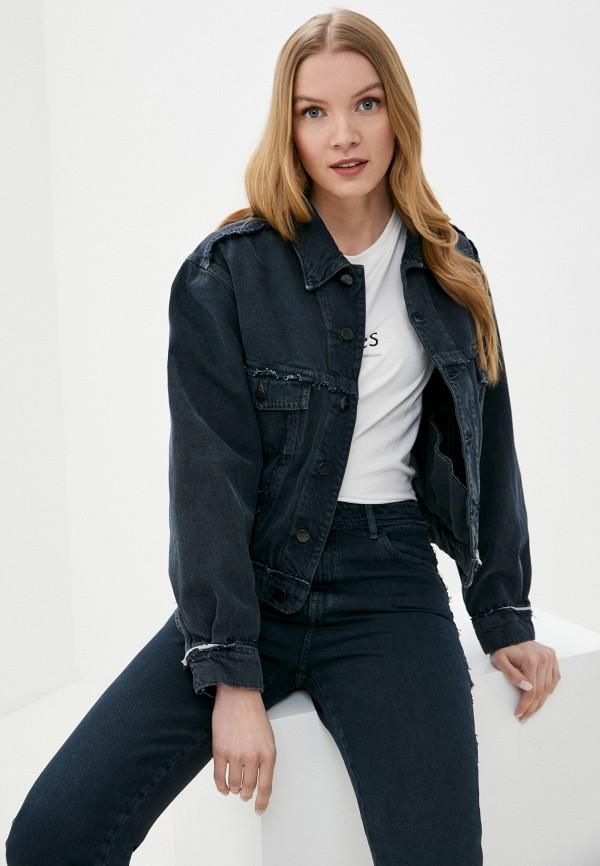 женская джинсовые куртка iro, синяя