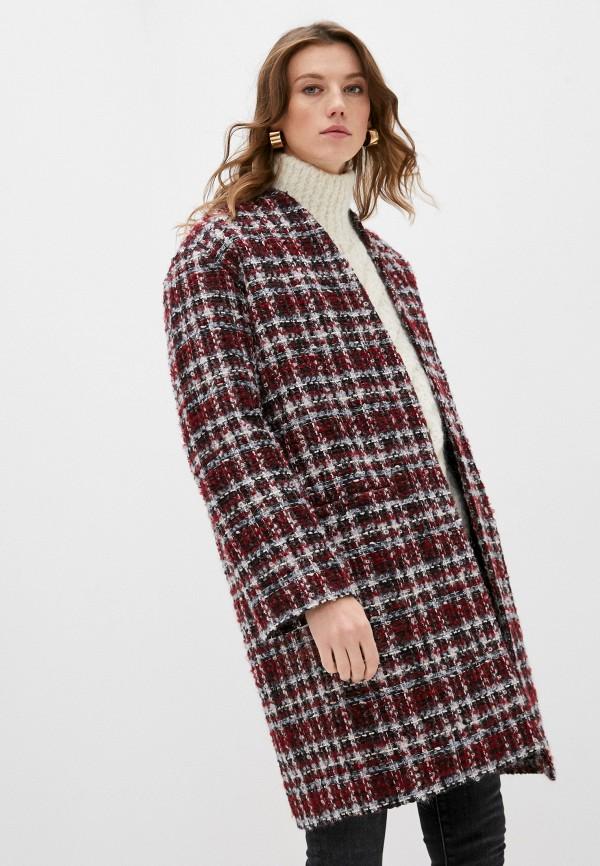 женское пальто iro, бордовое