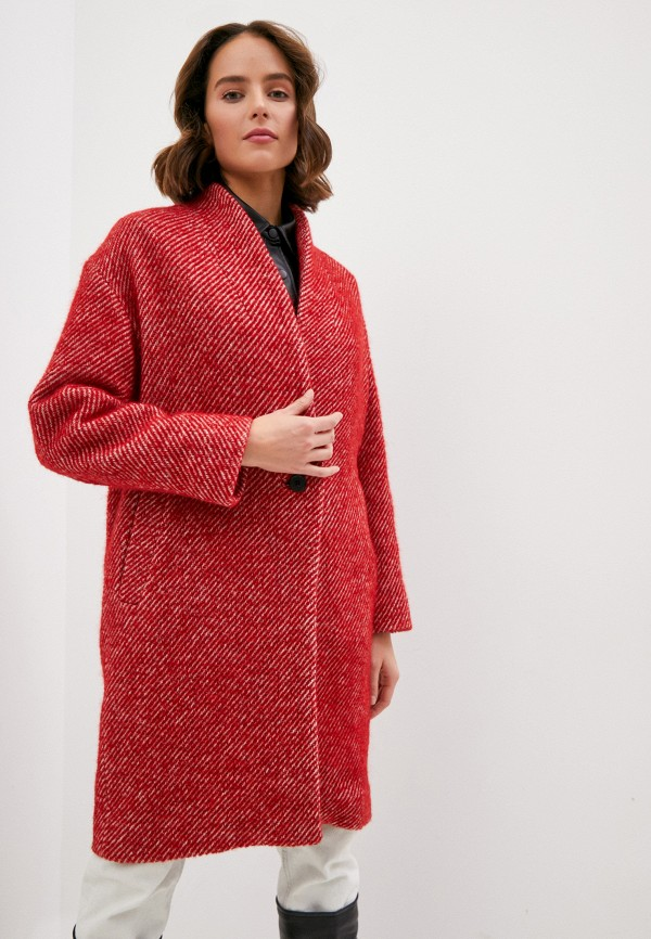 женское пальто iro, красное