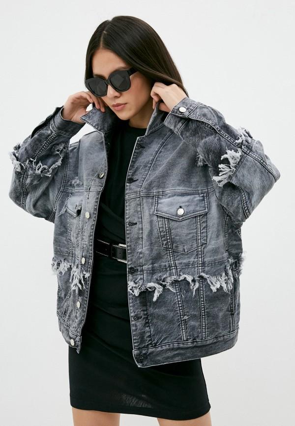 женская джинсовые куртка iro, серая