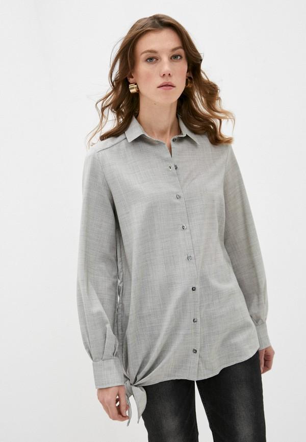 женская рубашка с длинным рукавом iro, серая