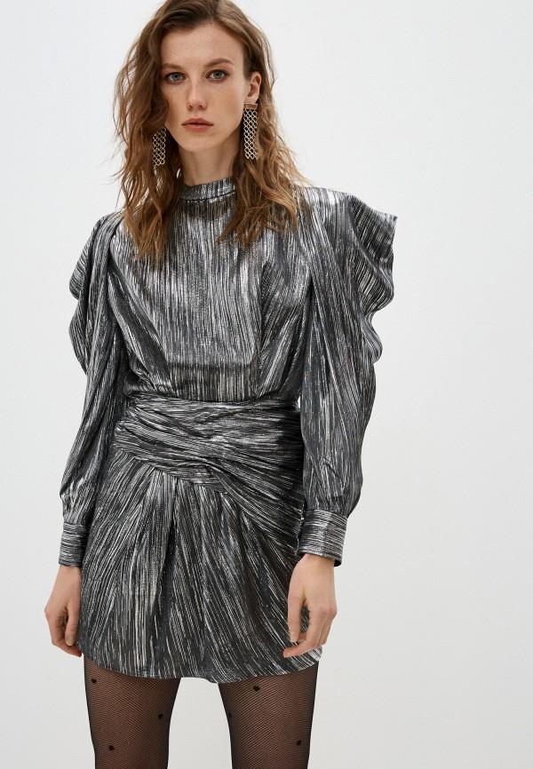 женское вечерние платье iro, серебряное