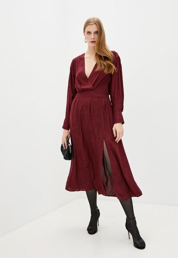 женское повседневные платье iro, бордовое