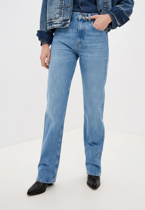 женские прямые джинсы iro, голубые