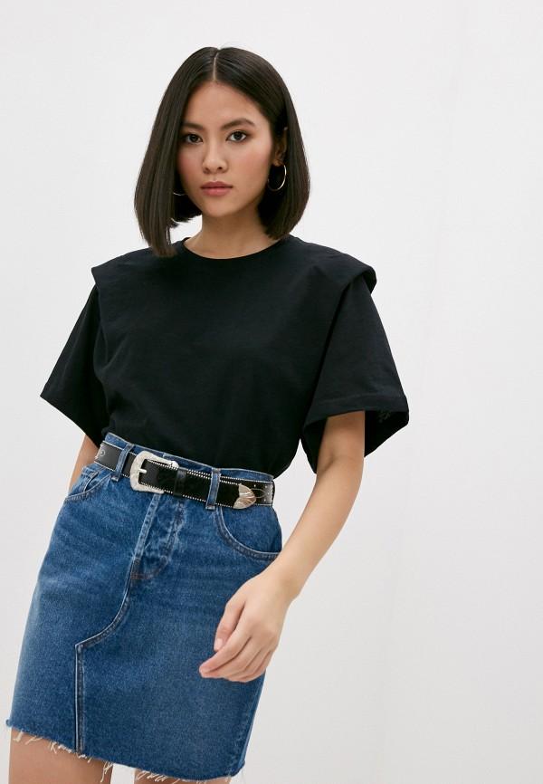 женская футболка iro, черная
