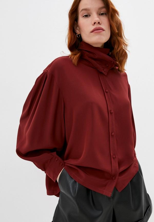 женская блузка iro, коричневая