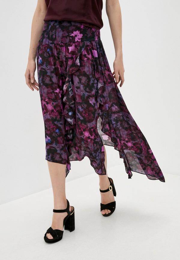 женская юбка-трапеции iro, фиолетовая