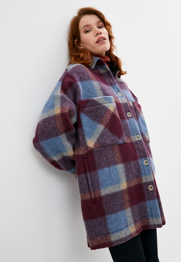 женское пальто iro, фиолетовое
