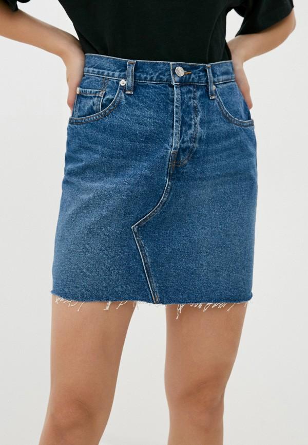 женская джинсовые юбка iro, синяя