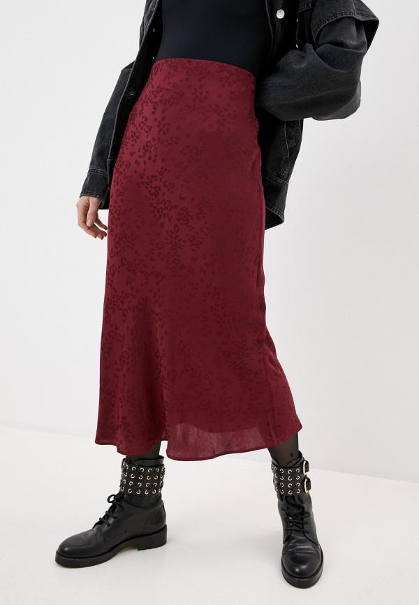 женское вечерние платье iro, бордовое