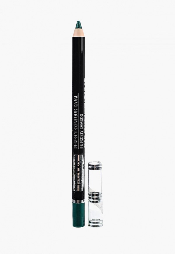 карандаш для глаз isadora, зеленый
