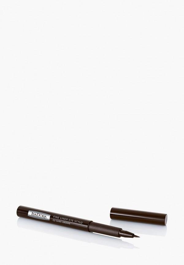 подводка для глаз isadora, коричневый