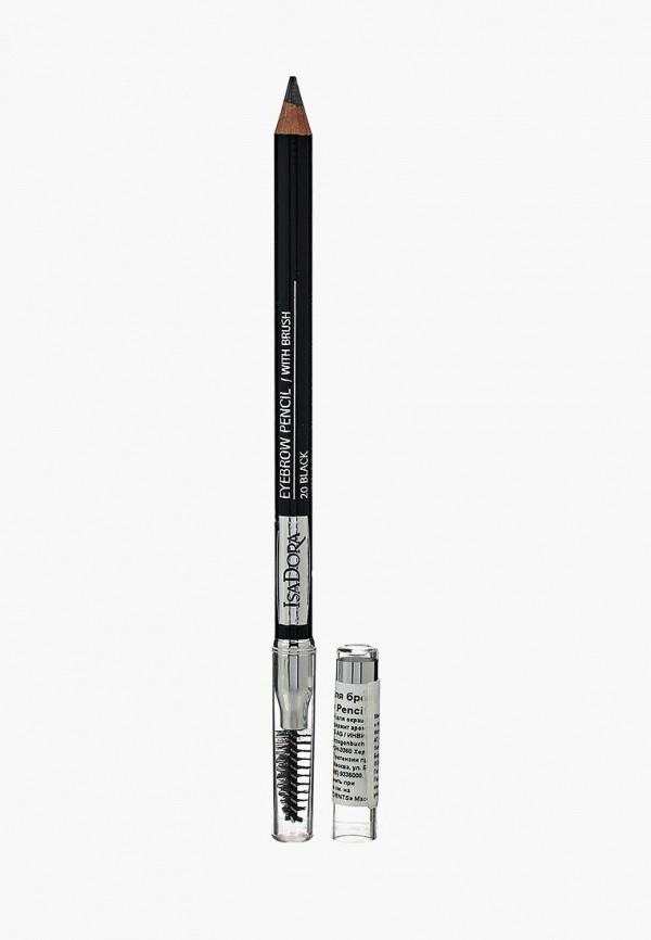 карандаш для глаз isadora, черный