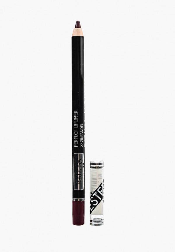 карандаш для губ isadora, бордовый