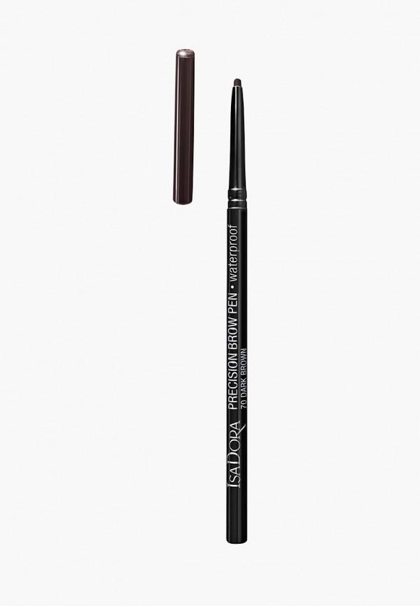 карандаш для бровей isadora, коричневый