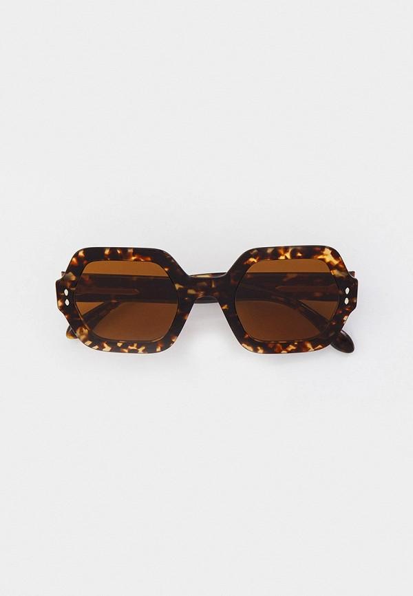 женские солнцезащитные очки isabel marant, коричневые