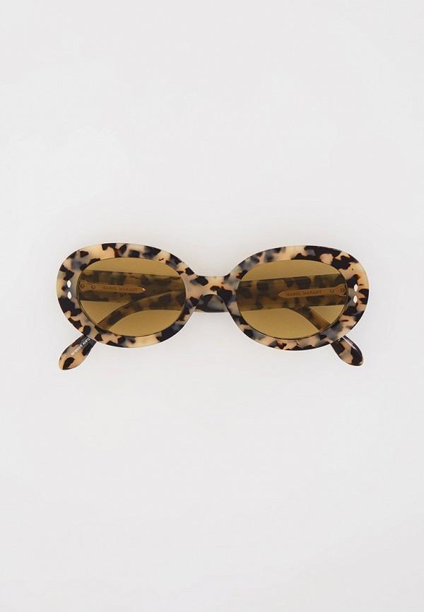 женские круглые солнцезащитные очки isabel marant, бежевые