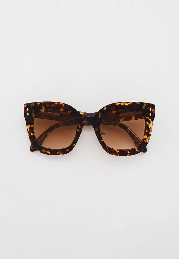 женские квадратные солнцезащитные очки isabel marant, коричневые